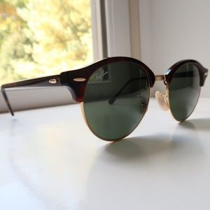 Ray Bans Women's Tortoise Clubround Classic
